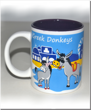 Greek Donkeys Eselbecher lila