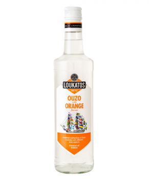 Loukatos Ouzo Orange - Ouzo mit Orangenaroma - 700ml - 43% vol.