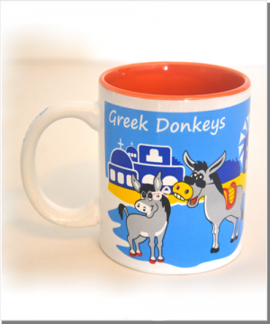 Greek Donkeys Eselbecher orange